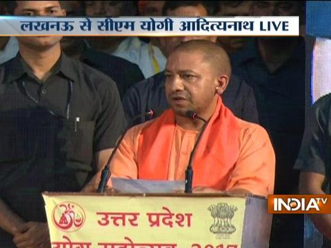 UP Yogi Adityanath speaks in Yoga Mahotsav at Lucknow