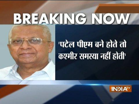 Kashmir wouldn't have been an issue if Sardar Patel was PM: Tripura governor Tathagata Roy
