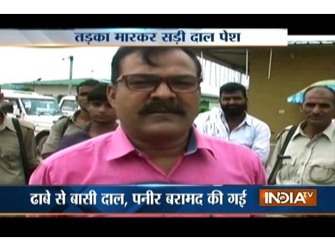 Food department officials raid at Yamuna Expressway resturant