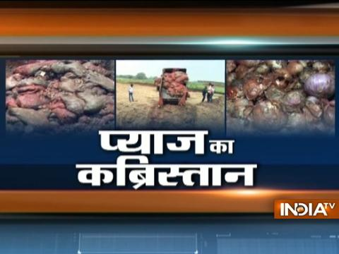 Ample amount of rotten onions being dumped in Madhya Pradesh