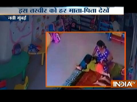 CCTV VIDEO: Child brutally beaten by his play school caretaker in Navi Mumbai