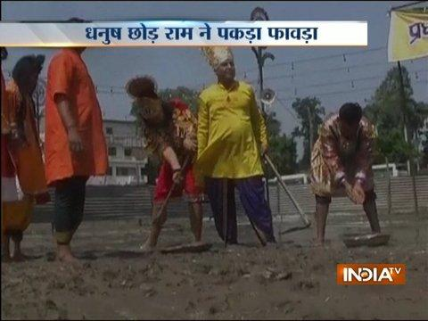 Meerut: Ram and Hanuman take part safai abhiyan