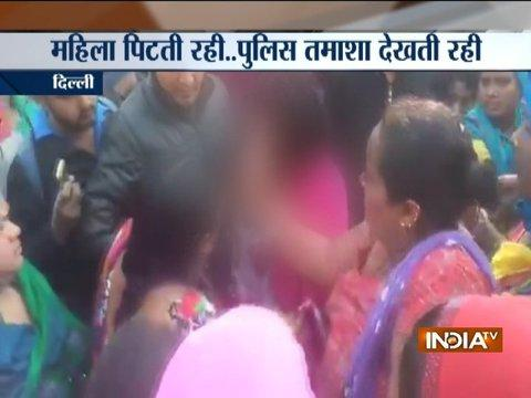 Public and police stare as DCW volunteer allegedly beaten up, stripped by liquor mafias
