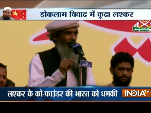 Lashkar co-founder Ameer Hamza praises China over Doklam, provokes war within India