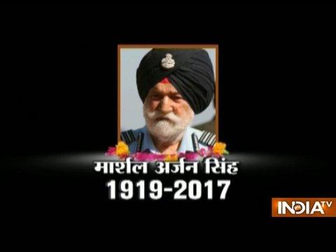 Marshal of Indian Air Force Arjan Singh passes away following heart attack in the morning
