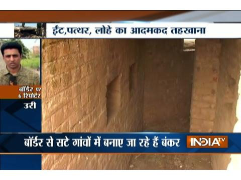 Indian army on alert with their secret bunkers along with LoC