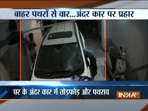 Gurugram: Miscreants throw stones on house after scuffle over parking, vandalise car