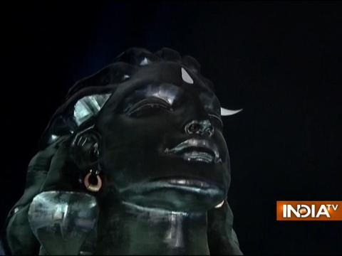 Coimbatore:PMModi unveils 112-feet-tall statue of Lord Shiva on