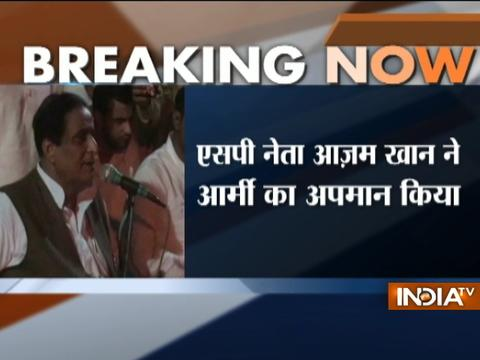 Azam Khan levels charges against the army, gets a hard-hitting reply from BJP