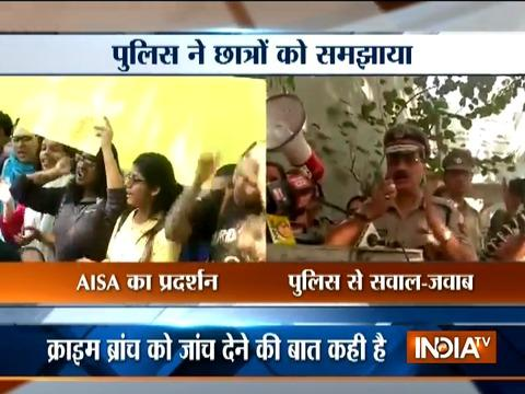 Ramjas Collage: AISA protest against ABVP, police takes control over situation