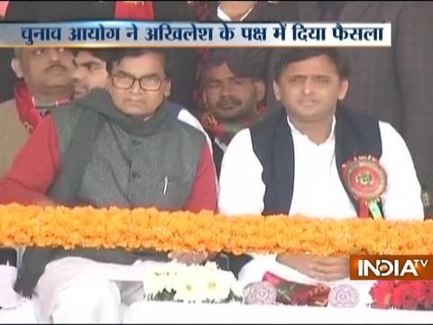 EC gives Samajwadi Pary's 'Cycle' symbol to Akhilesh Yadav
