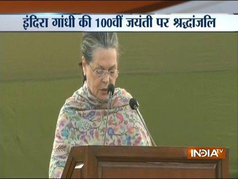 Sonia and Rahul Gandhi pays tribute to Indira Gandhi on her birth anniversary
