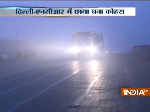 Thick fog blankets Delhi-NCR, flight and train services hit