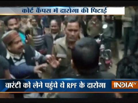 UP: RPF Cop beaten up by lawyers in Court Premises