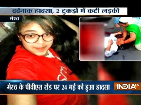 10th standard girl splits into two after truck runs over her in Meerut