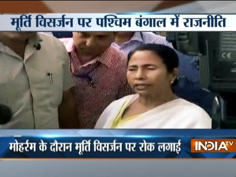 No Durga idol immersion on Muharram, says WB CM Mamata Banerjee