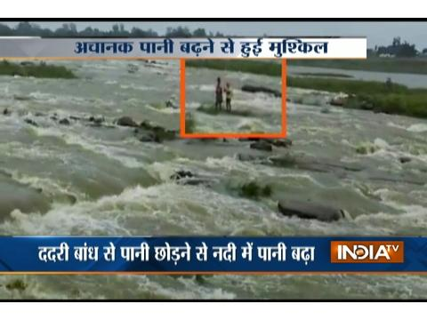 Youths struck amid flood in Mirzapur rescued