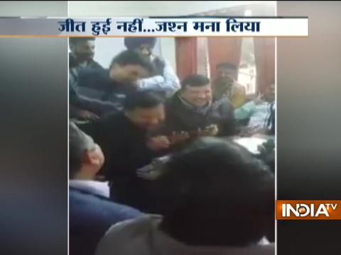 Caught On Camera: AAP leaders caught celebrating victory, a day before results
