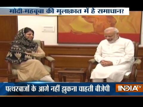 J&K: BJP-PDP alliance on the brink, Mehbooba likely to meet PM Modi today