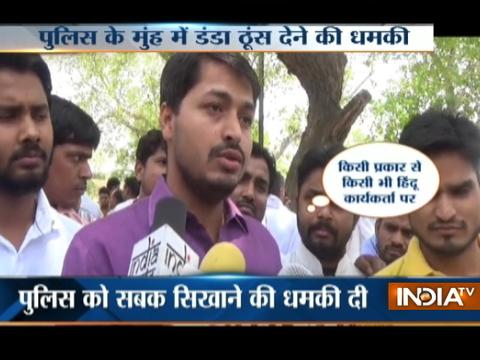 UP: BJP Leader threatens Police on Camera in Agra