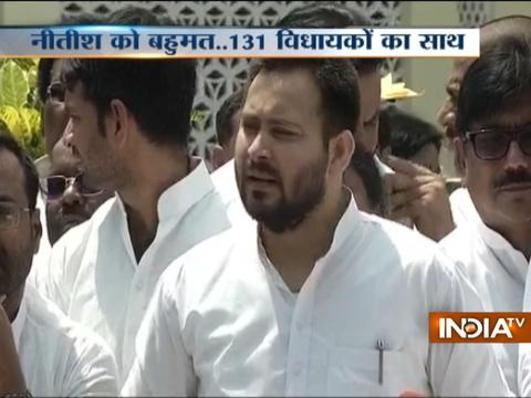Tejaswi Yadav: People had given their verdict to mega-alliance, Nitish Kumar has done wrong