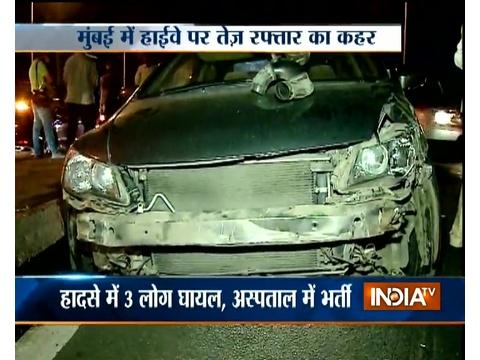 Three cars collides with each other at Western Expressway in Mumbai