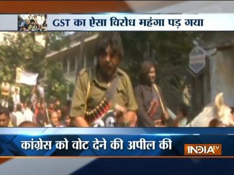 What happened when 'Gabbar' and 'Thakur' hit the streets in Surat to protest against GST