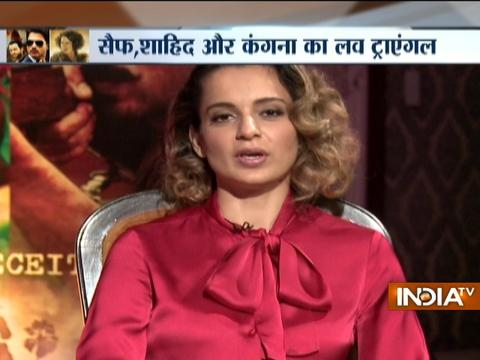 IndiaTV Exclusive: Shahid, Kangna and Saif talk about their upcoming movie 'Rangoon'