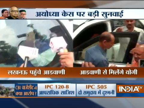 LK Advani reaches VVIP guest house in Lucknow, Yogi Adityanath to meet him shortly