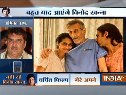 Raza Murad's reaction on veteran actor Vinod Khanna death