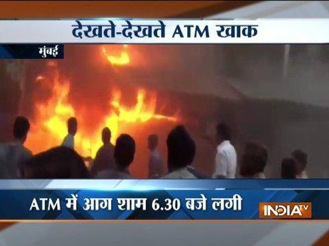 Massive fire broke at the HDFC ATM in Andheri west of Mumbai