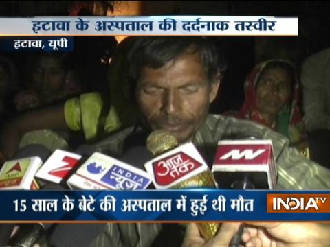 UP: Man carries 15 years old son's body home on shoulder in Etawah