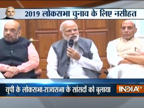 PM Modi meet MPs and MLAs over breakfast, discusses agenda of development