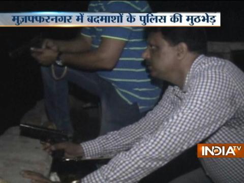 Encounter between goons and policemen in Muzaffarnagar