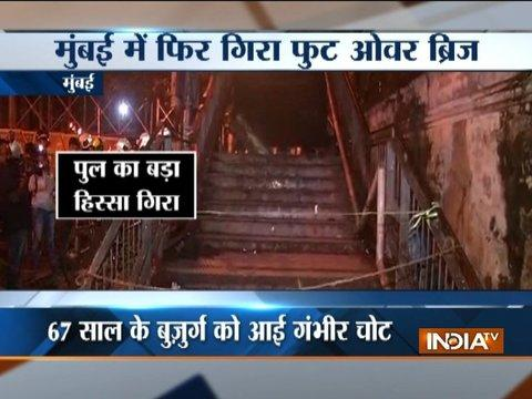 1 injured after part of foot-over-bridge collapses in Mumbai