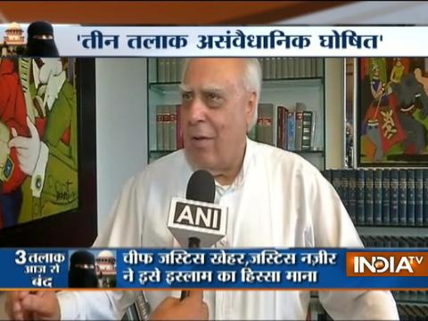 Kapil Sibal,Subramanian Swamy react to SC's verdit on Triple Talaq