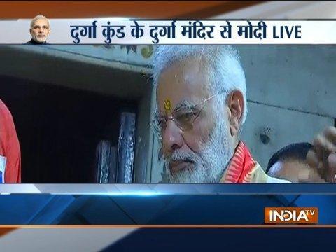 PM Narendra Modi offered prayers at Durga Mata temple in Varanasi