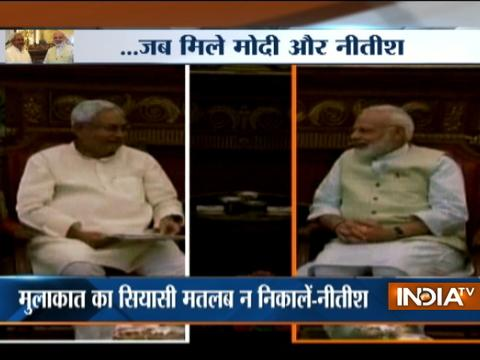 Nitish meets Modi, rejects suggestions of growing bonhomie between him and PM