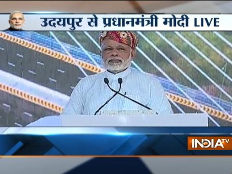 Infrastructure is important for taking India to newer heights: PM Modi in Udaipur