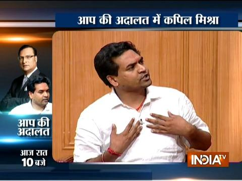 Aap Ki Adalat: Rajat Sharma grills Kapil Mishra over his hunger strike.