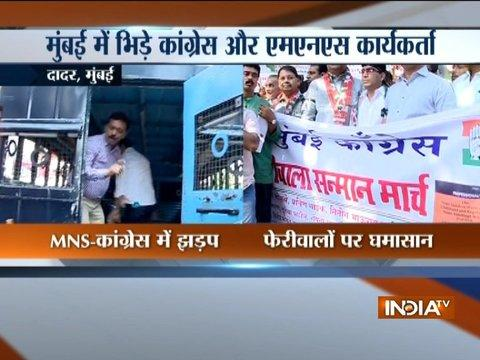 Mumbai: MNS and Congress workers clash in Dadar