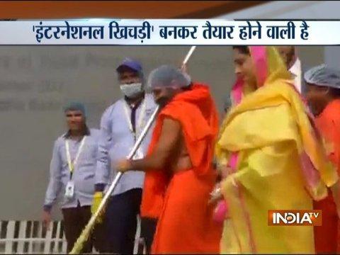Baba Ramdev prepare Khichdi at World Food India event