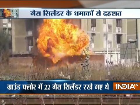 Gujarat: Gas cylinder explodes after fire breaks out at a godown in Ahmedabad's
