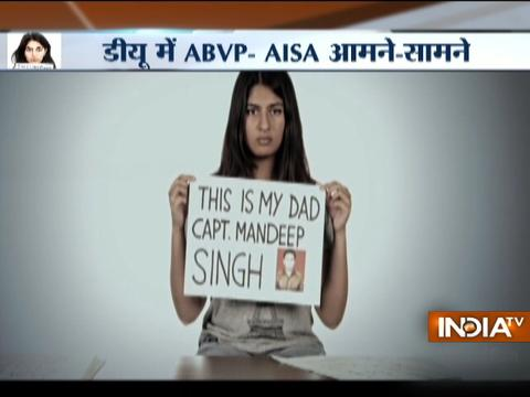 Delhi University Students Union's Tiranga March led by ABVP underway at North