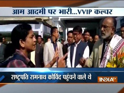 Woman gets angry over Union tourism minister Alphons after her flight gets delayed at Imphal airport