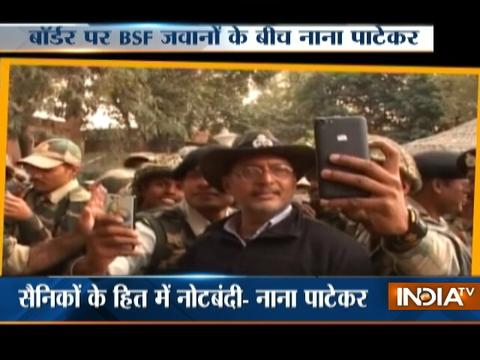 Actor Nana Patekar Visits Border Areas In J&K's Samba Sector