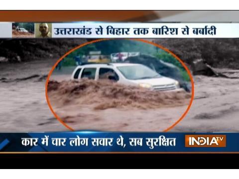 Watch Heavy rain increasing floods in Uttarakhand and Bihar