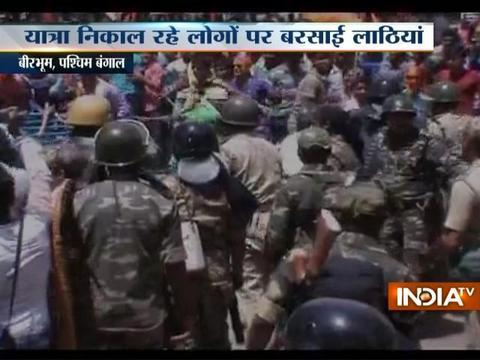 West Bengal: Police lathi-charge 'illegal' Hanuman Jayanti procession in Birbhum