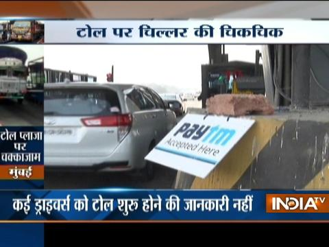 Long queues and traffic jam was seen at Toll plazas in across country