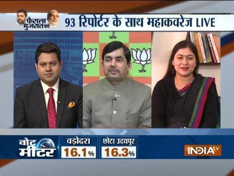 Debate between Congress leader Ragini and BJP leader Shahnawaz Hussain